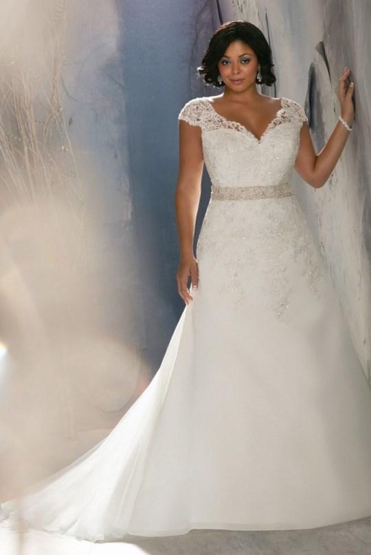 Beautiful Cheap Vintage Plus Size Wedding Dress Idea