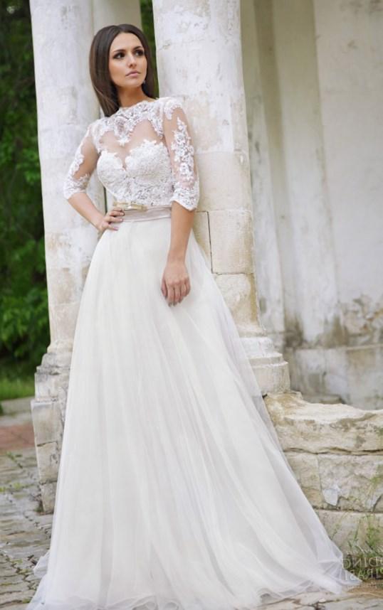 Plus Size Long Sleeve Mermaid Wedding Dresses : Long sleeved wedding dresses plus size pluslook eu
