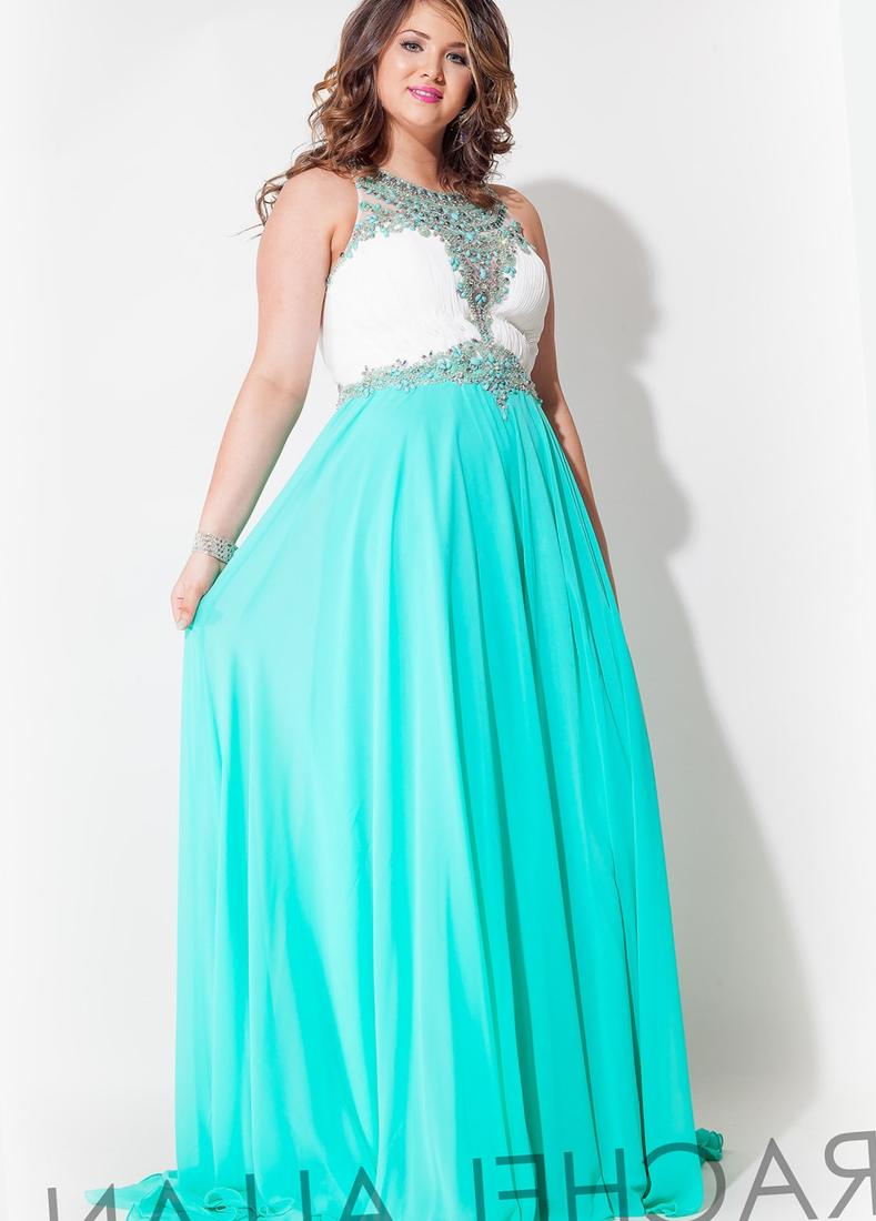 Rachel Allan 7426 Plus Size Prom Dress Beaded Halter