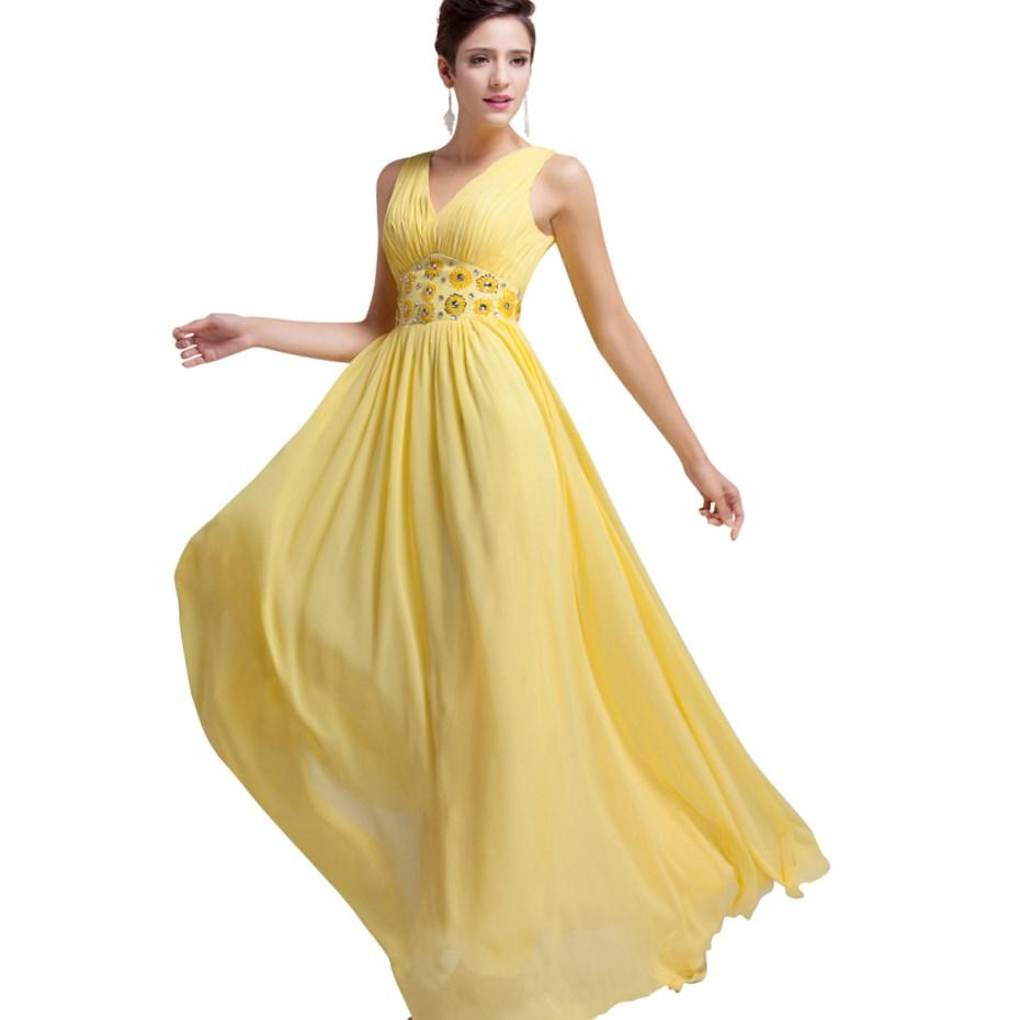 Yellow Plus Size Prom Dresses 21