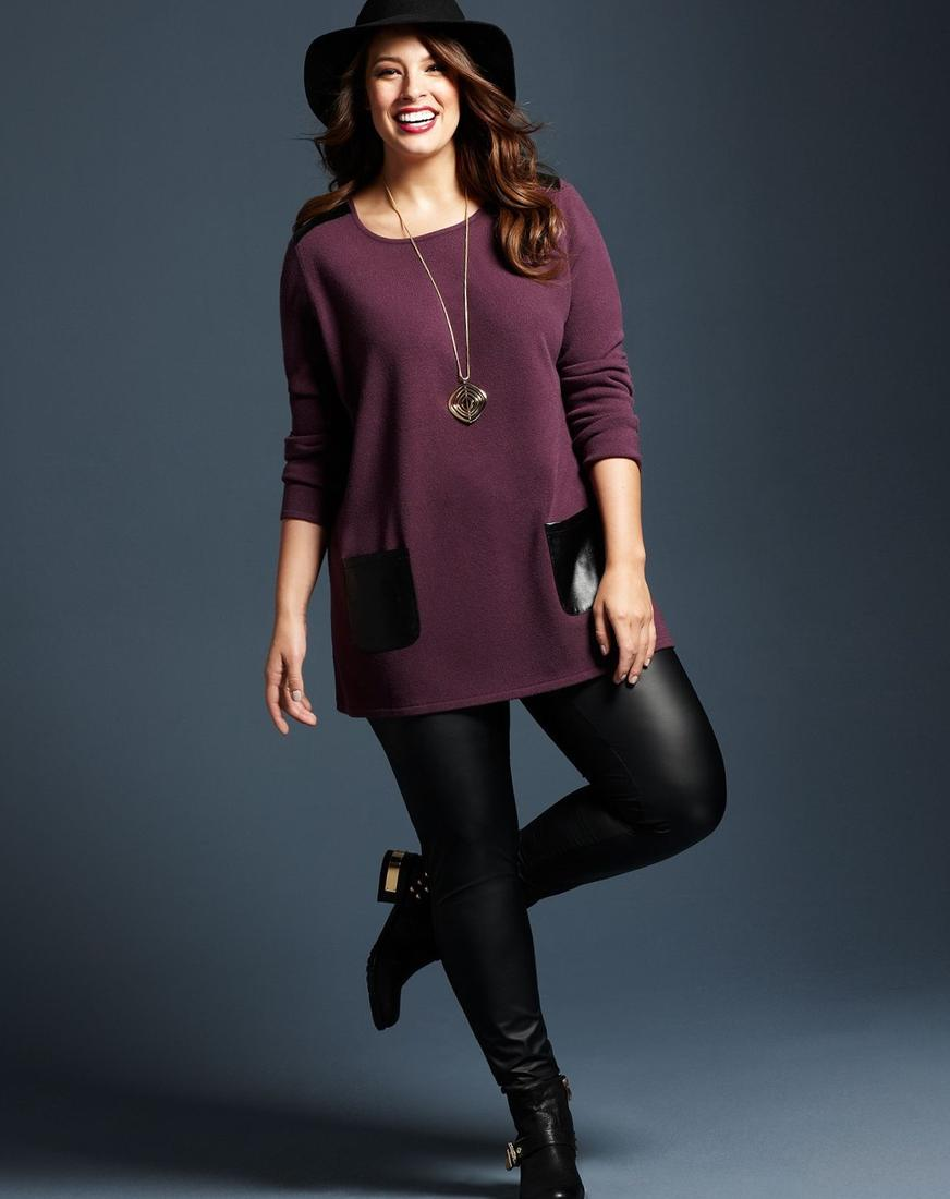 Plus size dress with leggings - PlusLook.eu Collection