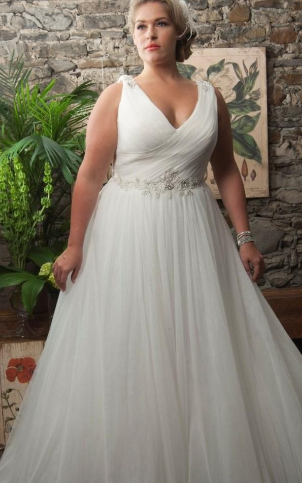 Plus Size Wedding Dresses With Empire Waist : Dresses wedding simple white chiffon gown empire waist