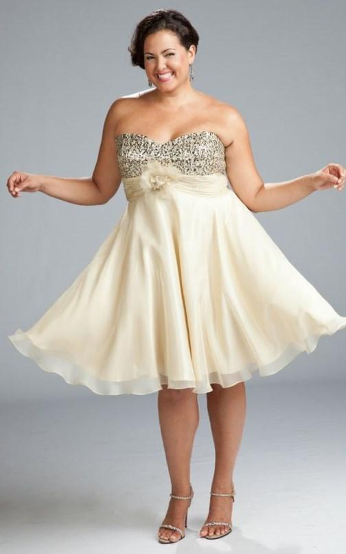 Gold plus size bridesmaid dresses - PlusLook.eu Collection
