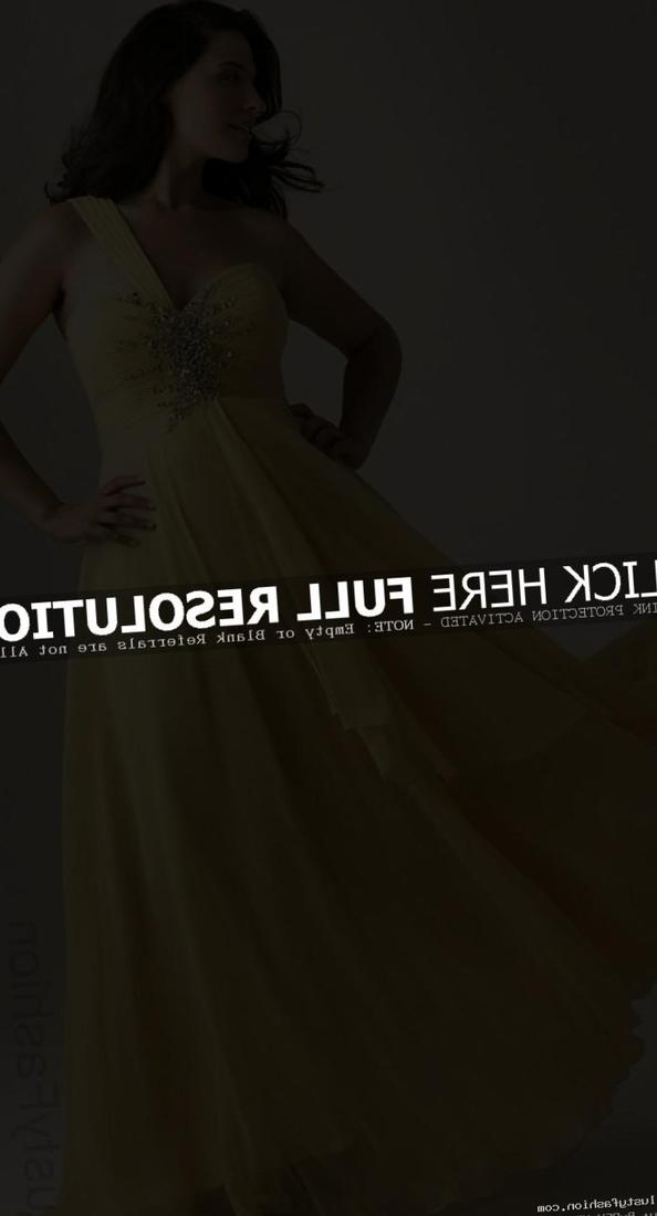 Plus Size Custom Made Yellow Empire Evening Dress V-neck Chiffon Beading Floor-length