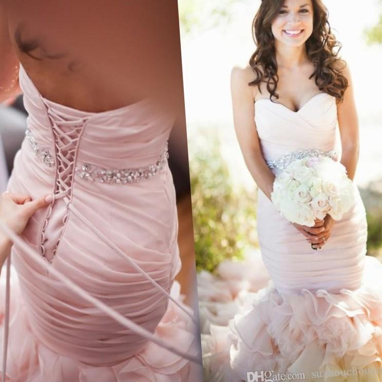 Pink plus size wedding dress - PlusLook.eu Collection