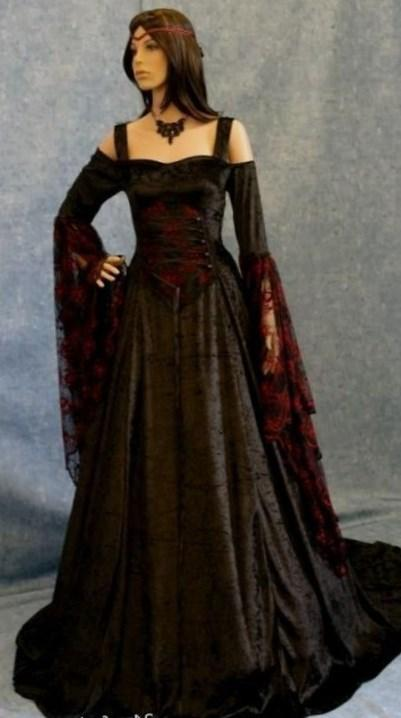 Plus Size Goth Prom Dresses 91