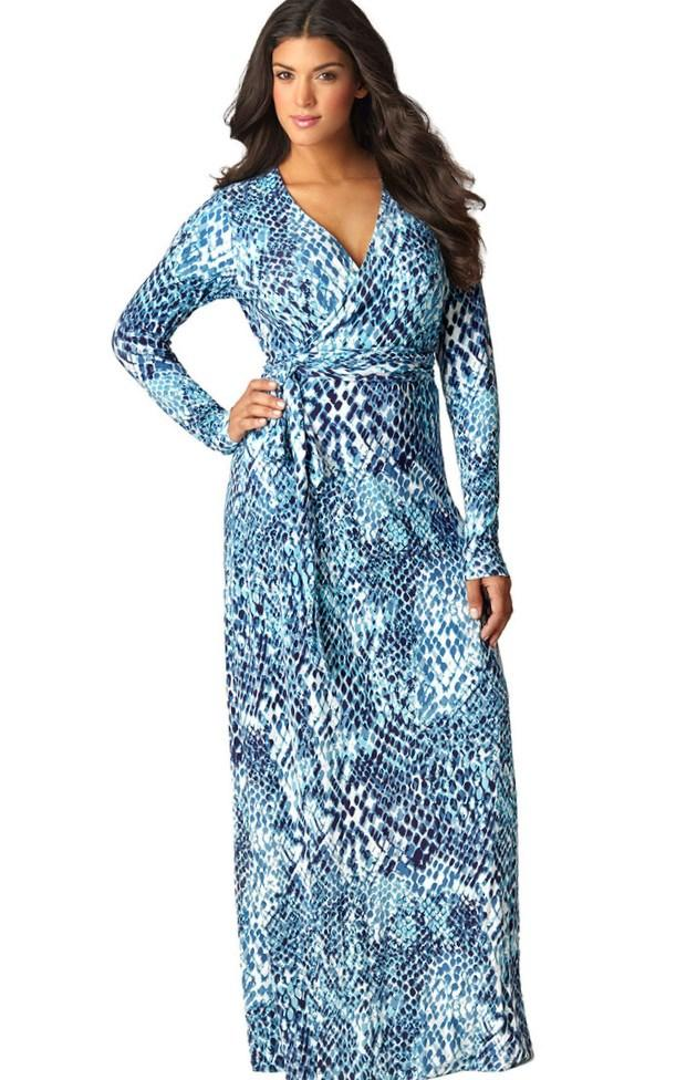 Real Curves for Maritime Maxi Dress-Sale