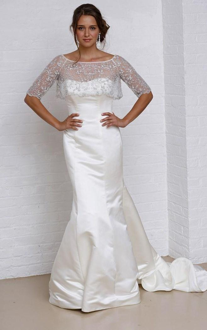 Plus Size Wedding Dress 3197 Crystal and Pearl Chandelier Beading onto the Net Gown with Alen