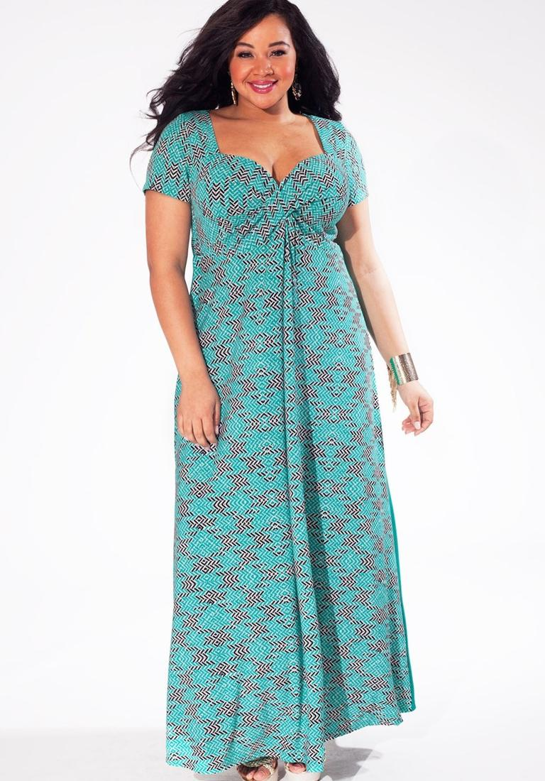 Plus size halter maxi dress - PlusLook.eu Collection