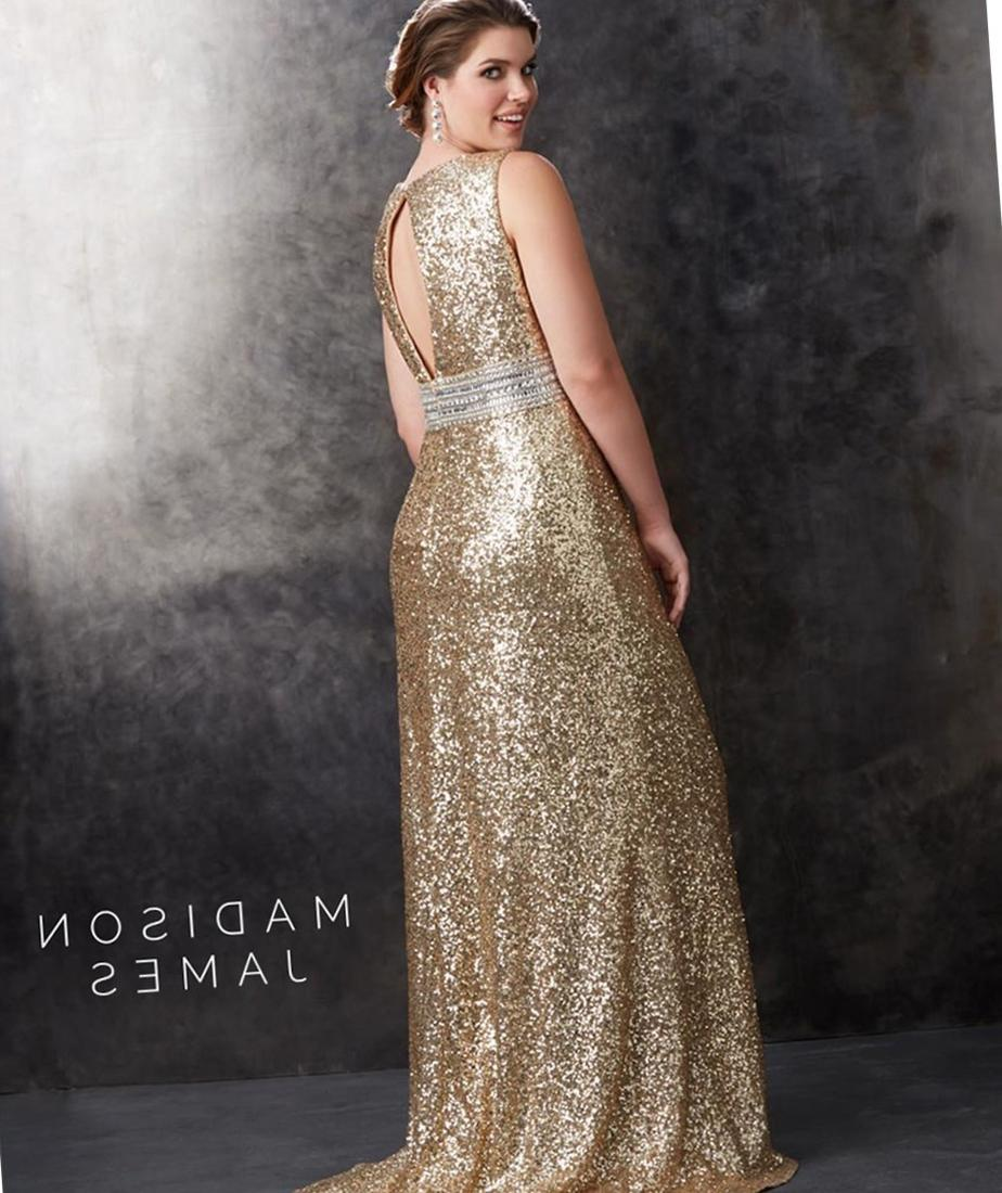 Glorious Glitter SC8054 | Plus size cocktail dress with sequined bodice Is it gold enough?