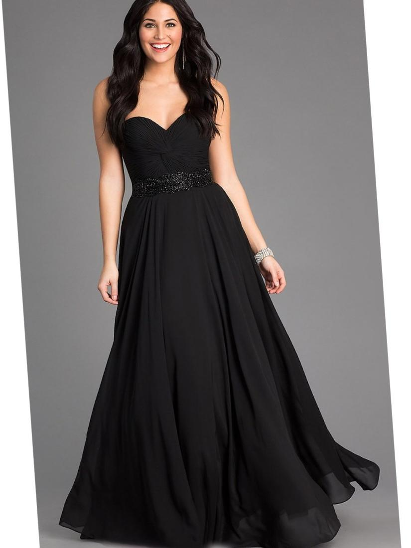 Plus Size Black Dresses Evening Pluslook Eu Collection