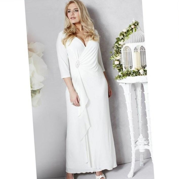 casual plus size wedding dress pluslookeu collection