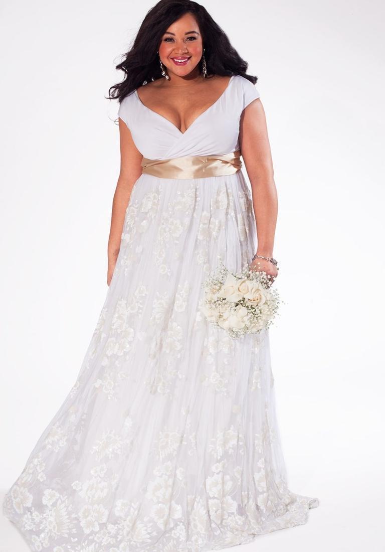 Plus size beach bridal dresses