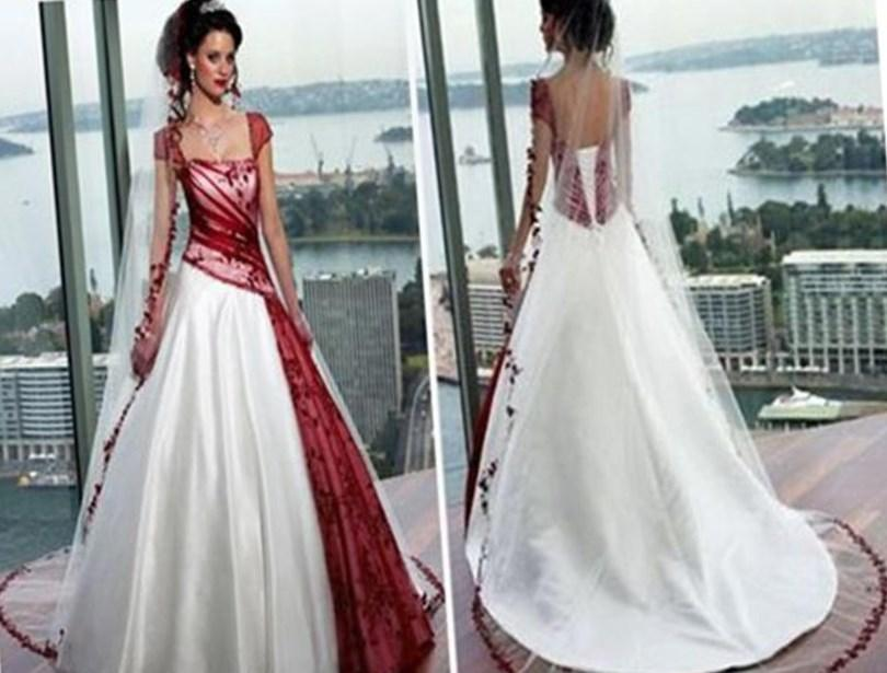 Plus size wedding dress with color collection for Colored wedding dresses plus size