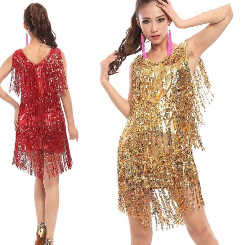 Plus size latin dance dresses ballroom