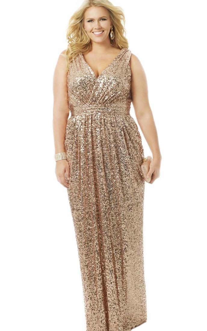 Plus Size Gold Bridesmaid Dresses Pluslook Eu Collection
