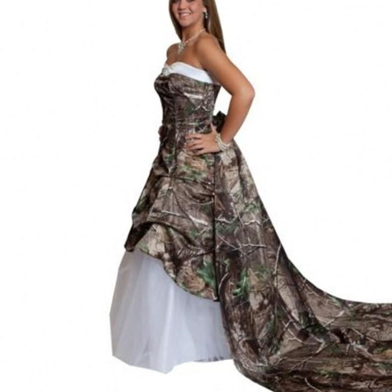 Plus size camouflage dresses collection for Red camo wedding dresses