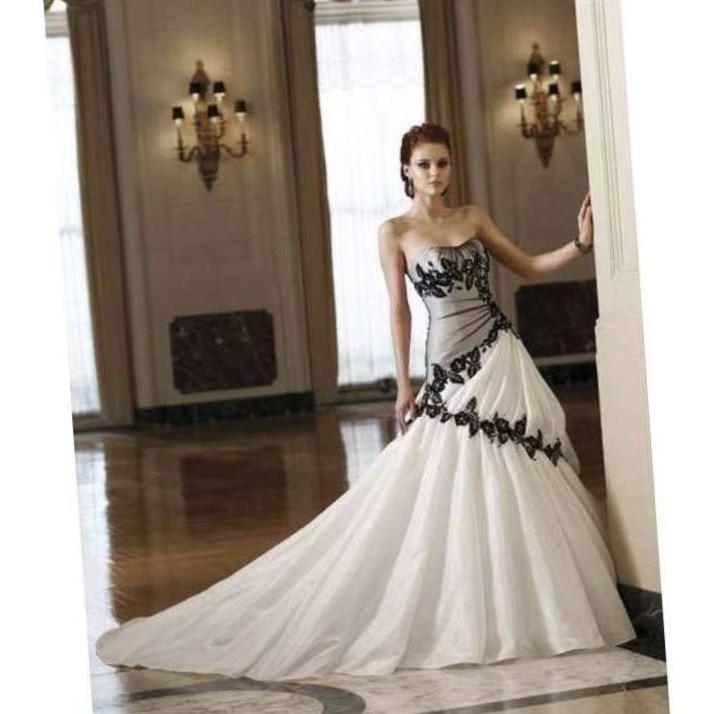 Black And White Wedding Dresses Plus Size Re Re