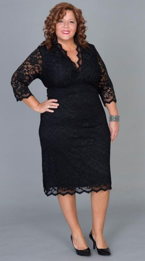 Plus Size Lace Top Linden, Black Lace/Black Lining Add a little romance to your wardrobe with our Linden Lace Top. Modeled after our top-selling Scalloped
