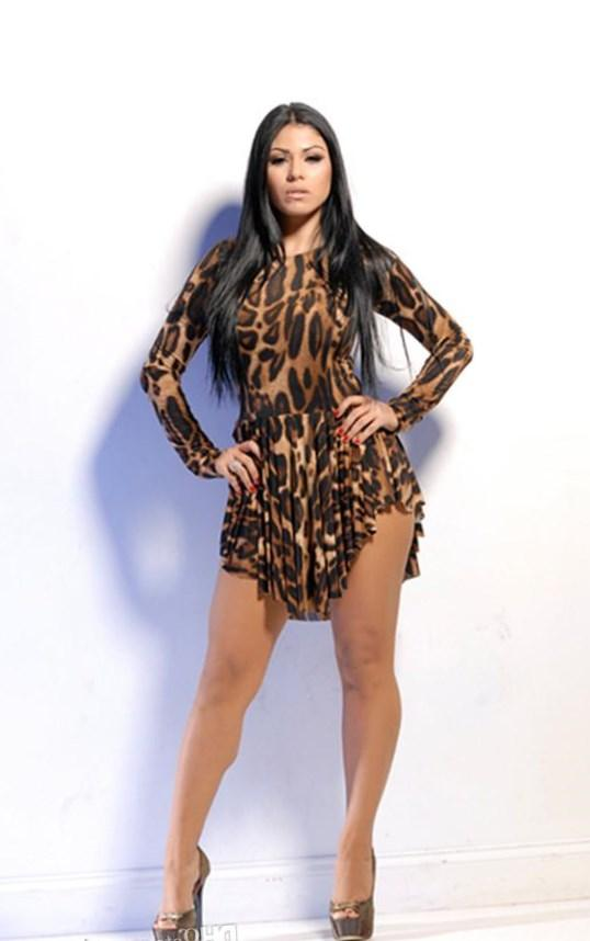 Plus size mini dress clubwear dress