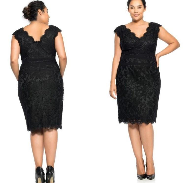 Komarov Embellished V-Neck Tiered Chiffon A-Line Dress (Plus Size)