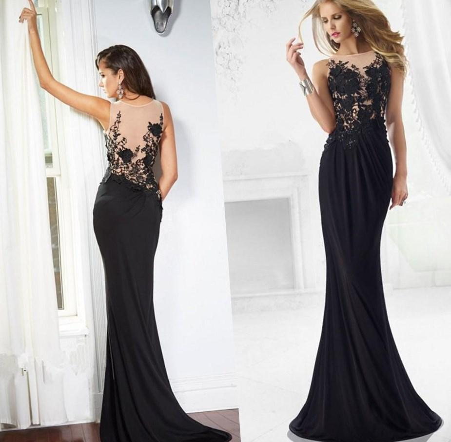 Plus Size New Arrival Party Dresses Gothic Corset Prom Dress 2017 A-Line Sexy V-neck Cheap Long Sleeve Black Lace Prom Dresses