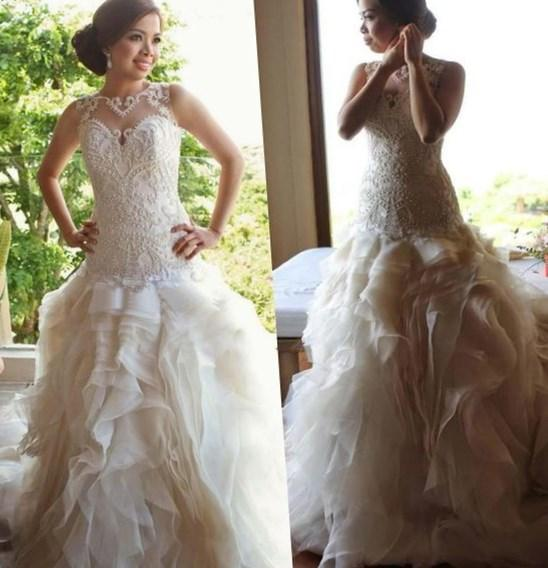Sexy Sweetheart Plus Size Bridal Gown Organza Ball Gown Wedding Dresses 2017 Lace
