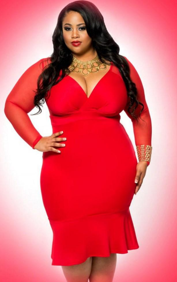 sexy plus size red dresses pluslookeu collection