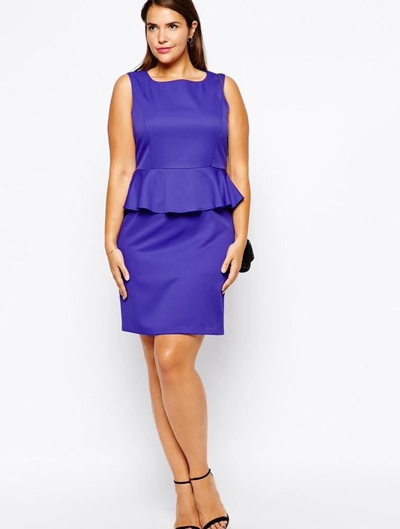 Peplum dress for plus size - PlusLook.eu Collection