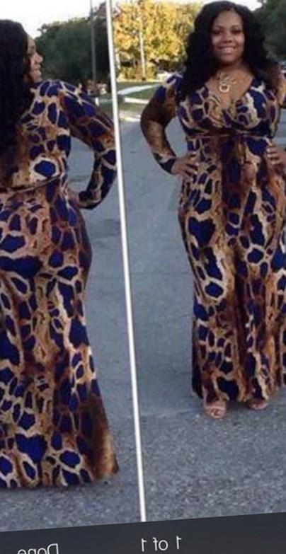 Plus Size Zebra Print Dresses Pluslook Eu Collection