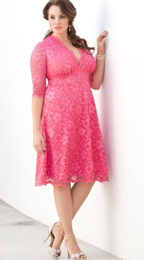 Plus Size Pink Party Dresses Pluslook Collection