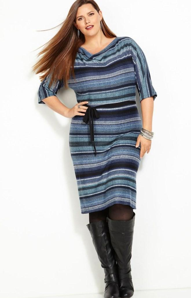 Calvin Klein Plus Size Cable-Knit Sweater Dress - Plus Size Dresses - Plus Sizes