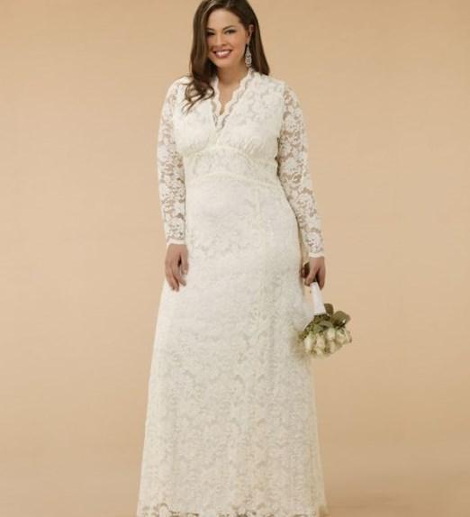 Dress Wedding Vintage Romantic-Lace-Applique-Tea-Length