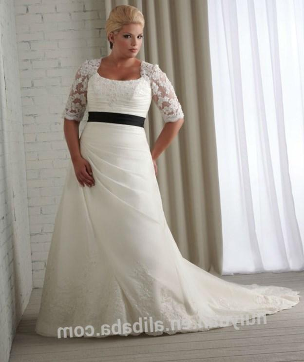 Modest Lace Long Sleeve Wedding Dresses Plus Size Sale