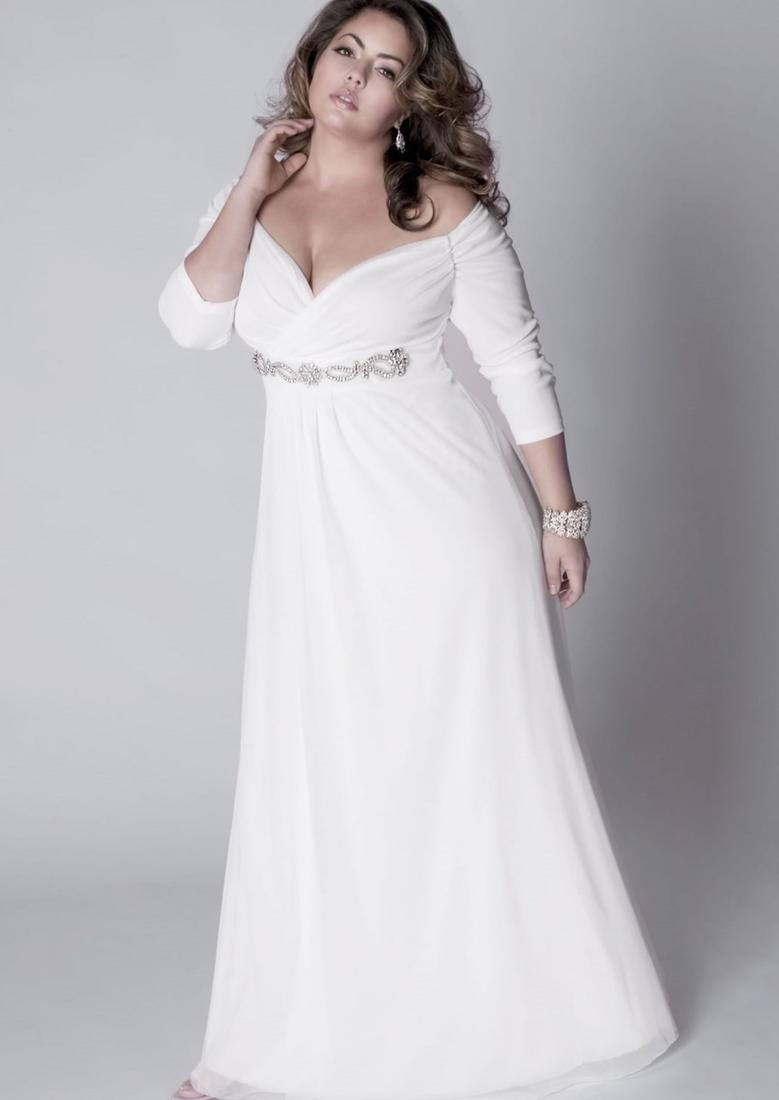 As far as style is concerned, plus size white prom dresses with sleeves come in style drapery, style neckline, soft style wedding dress, illusion of the new