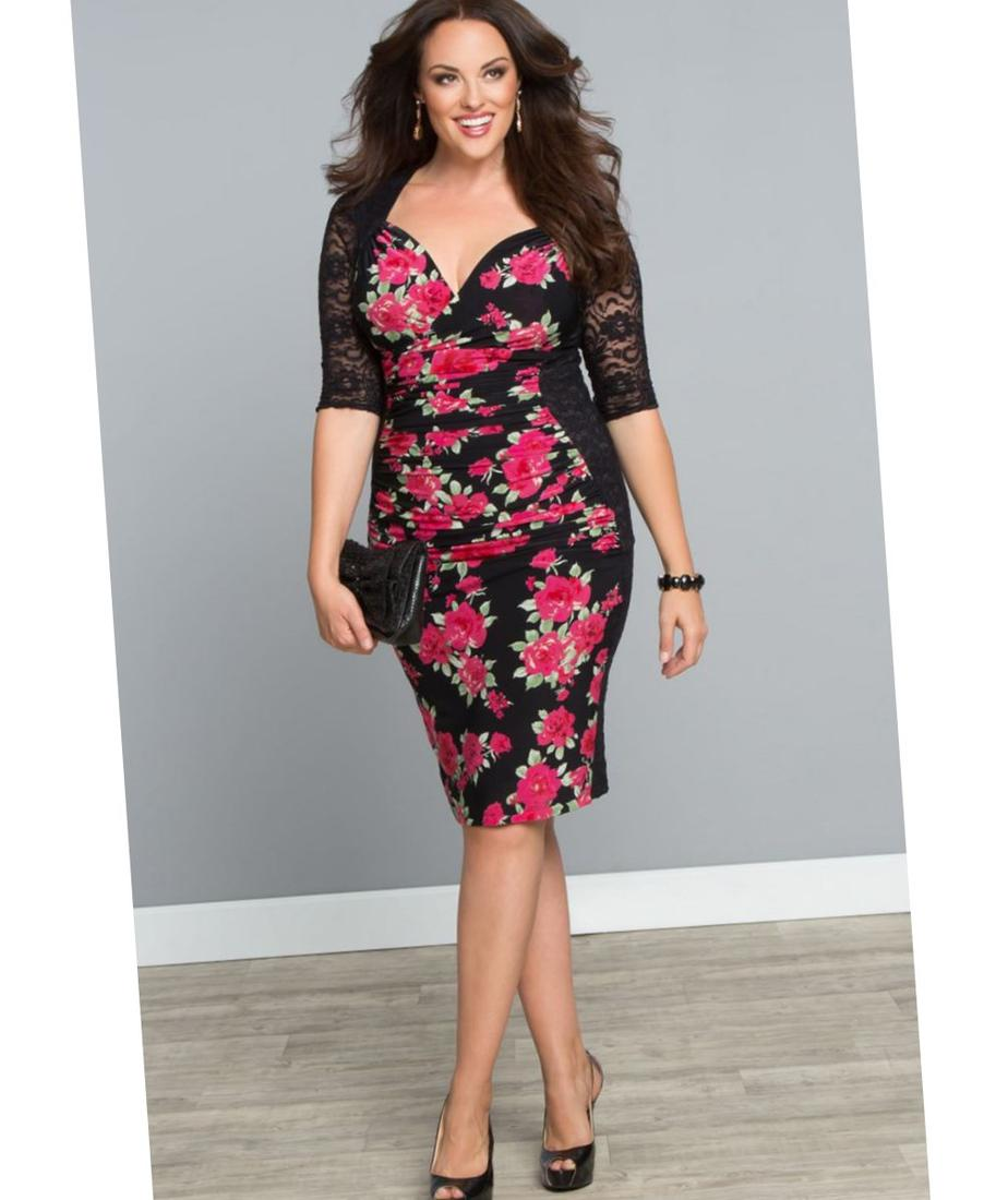 Lace Embellished Tunic Dress - 3 COLORS $38 Plus size dresses: