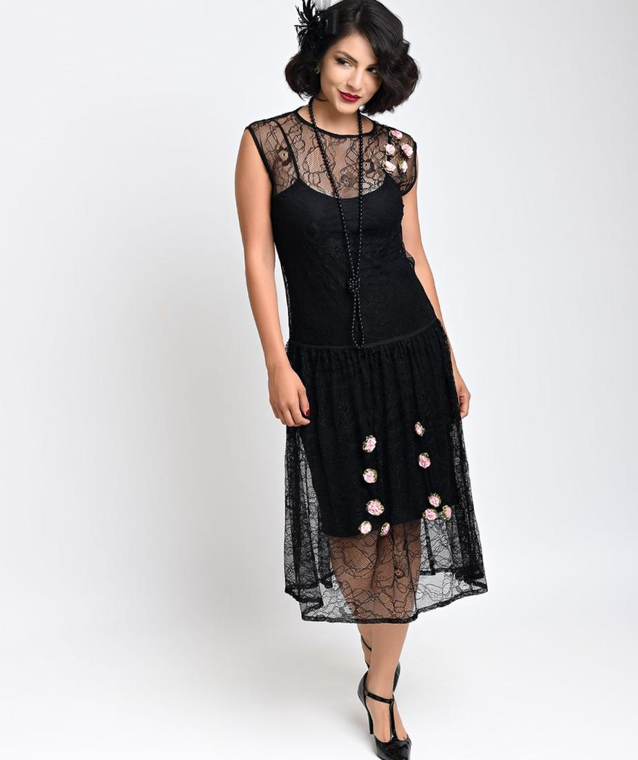 Long 1920s dress plus size