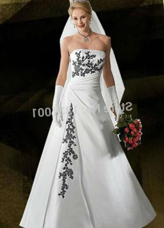 New Sexy Plus Size Wedding Dress Black And White Bridal Gowns 2016 New Fashion For Womens