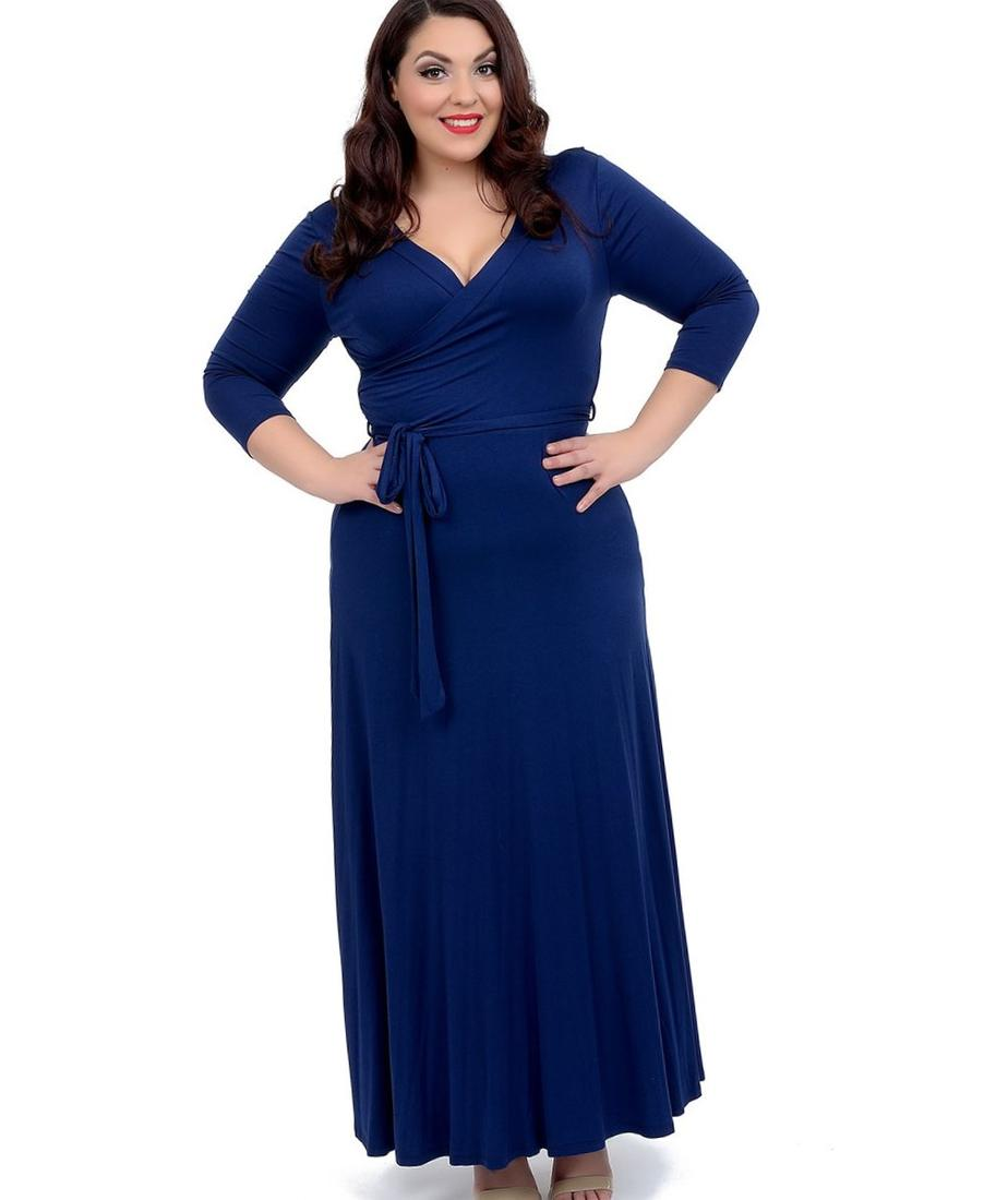 Plus Size Black Maxi Dress With Sleeves