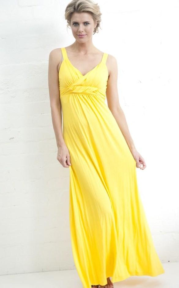 Yellow plus size maxi dress - PlusLook.eu Collection