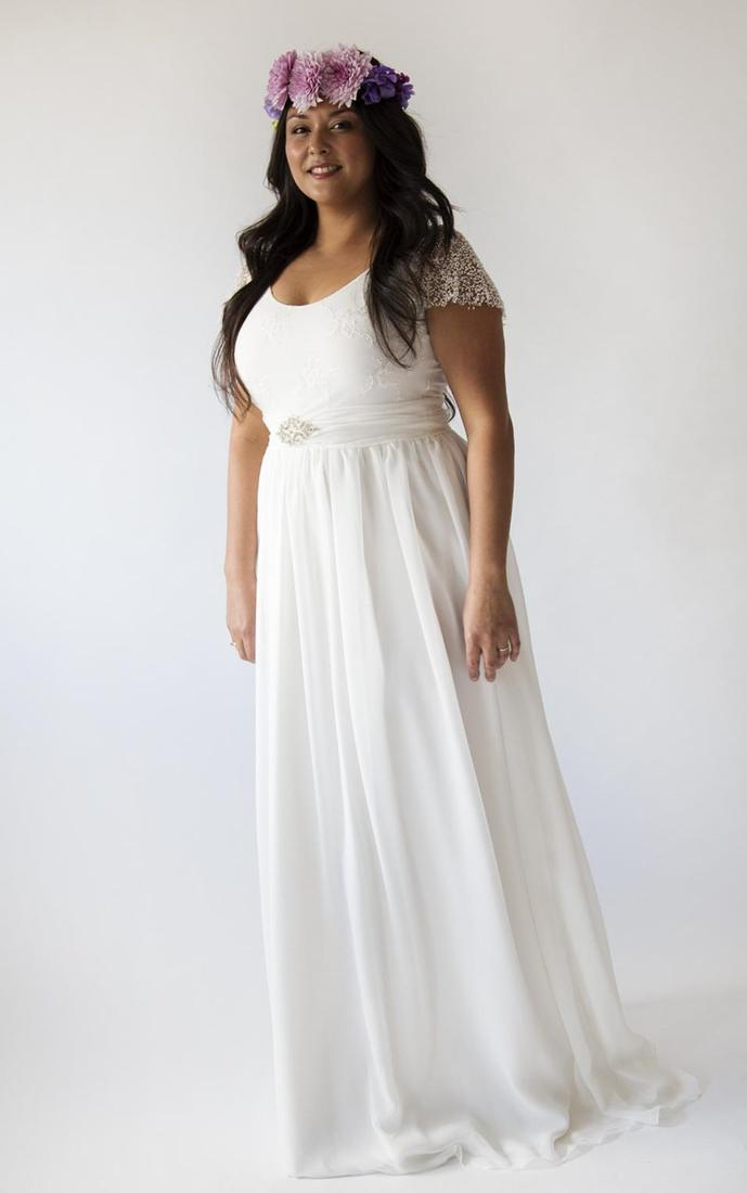 Simple wedding dress plus size collection for Plus size simple wedding dress