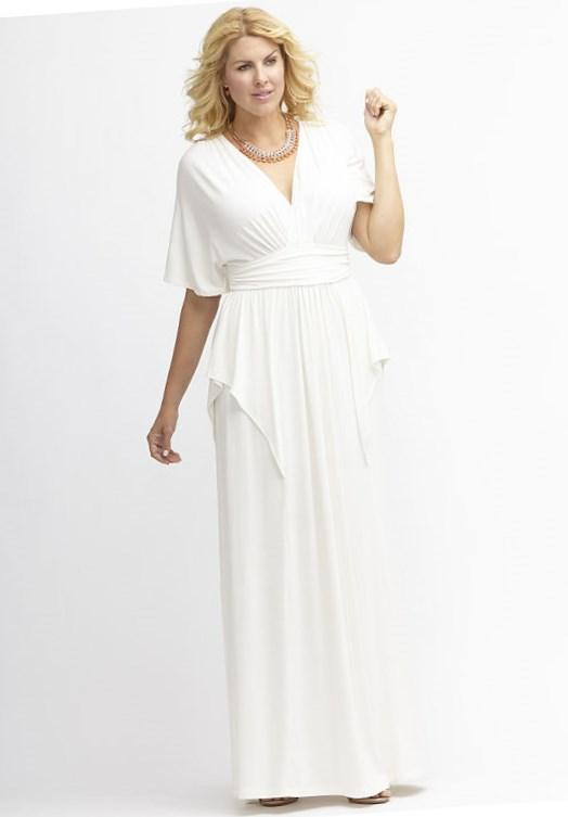 Trendy plus size white dresses - PlusLook.eu Collection