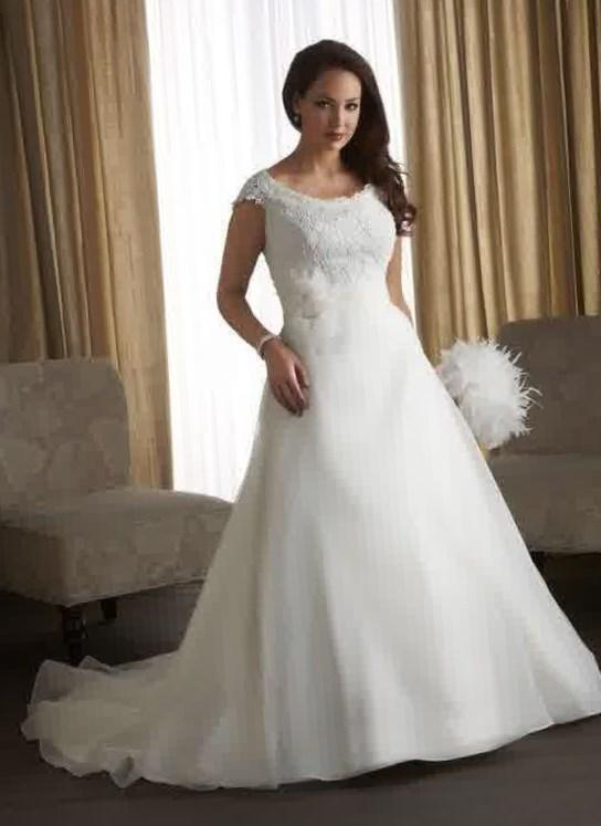 Empire waist plus size wedding dresses for Cheap simple plus size wedding dresses