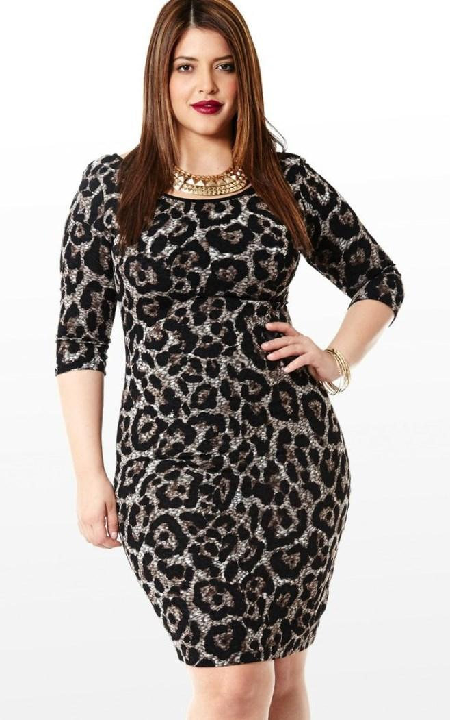 Maxina Cocktail Dress Big beautiful real women with curves fashion accept your body plus size body