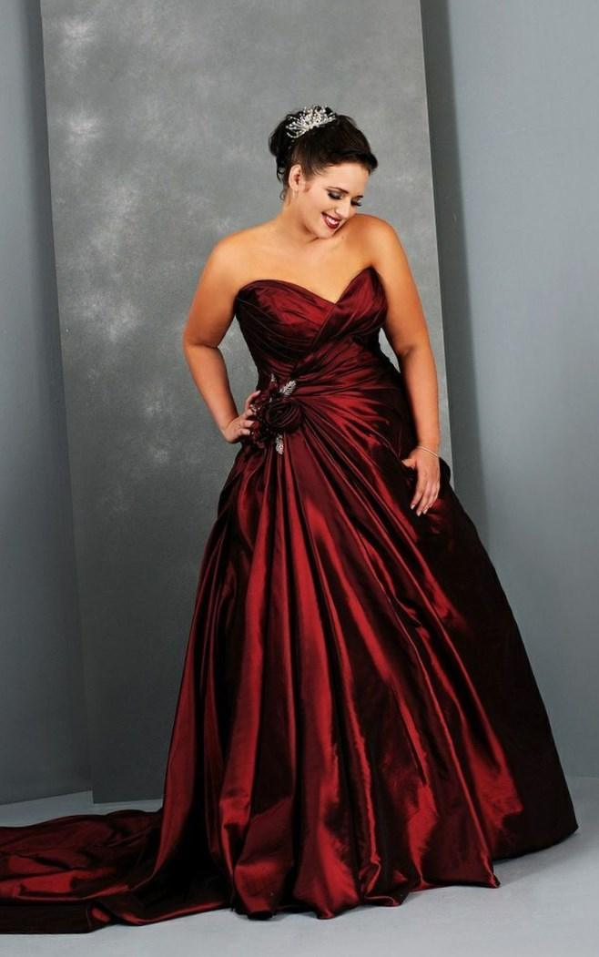 Red plus size wedding dresses collection for Super plus size wedding dresses