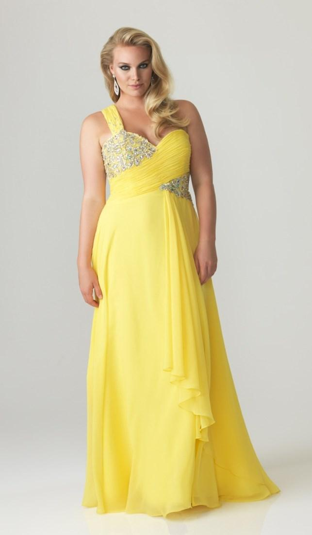 Yellow Plus Size Prom Dresses Pluslook Collection