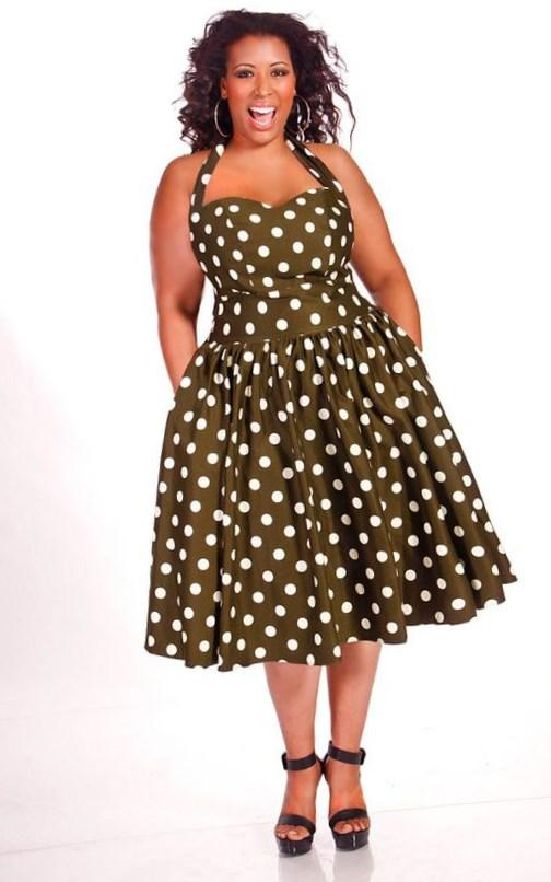Prom Dresses, Plus Size Dresses, Prom Shoes -PromGirl : Long Two Piece Polka