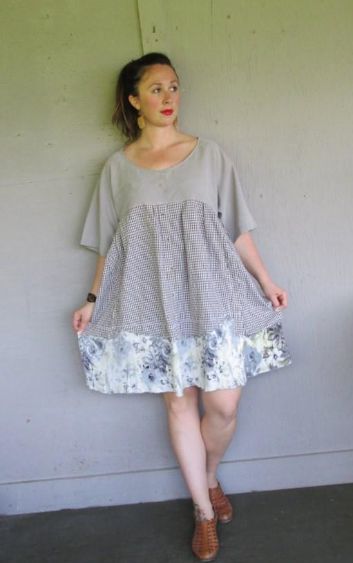 Floating Flower Pattern Dress