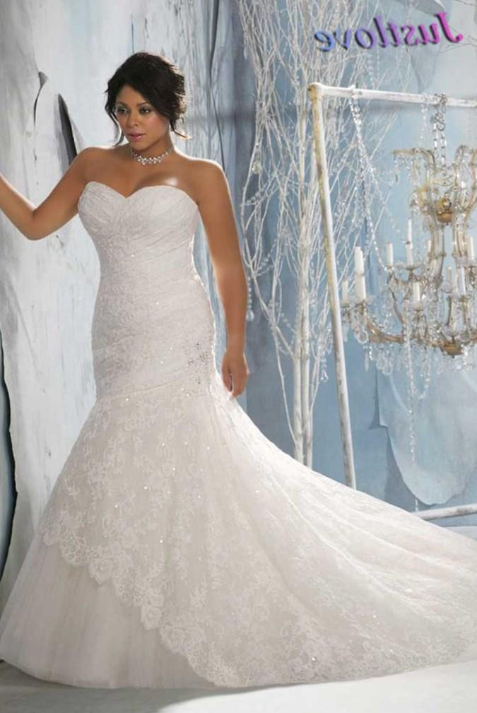 Wedding dresses sweetheart neckline fit and flare plus size