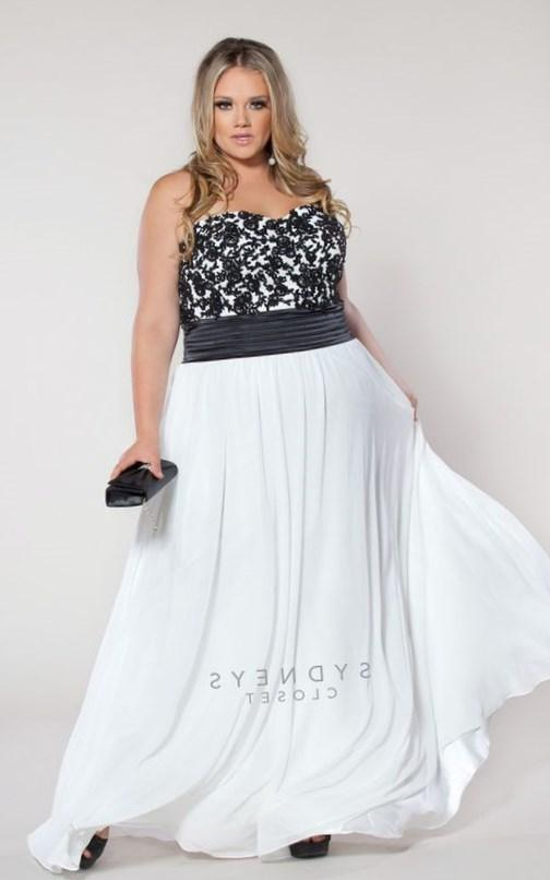 Plus Size Beautiful plus size strapless dress with beaded lace bodice over white satin: Size